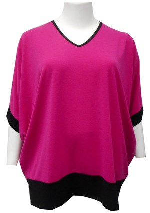 HOT PINK - Margaret batwing knit