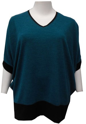TEAL - Margaret batwing knit