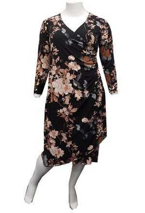 PRINT 606 - Catherine false wrap dress