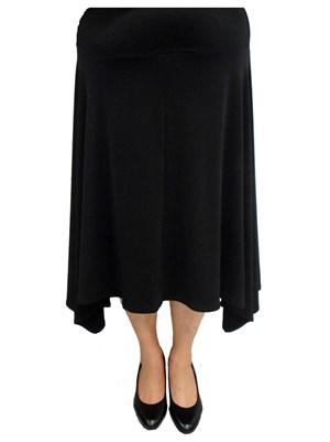 BLACK - Peaked hem skirt