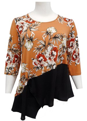 LIMITED STOCK - PRINT 607 - Karen print contrast top