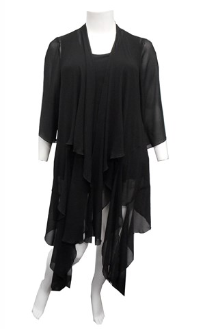 LIMITED STOCK - BLACK - Kayla chiffon shrug