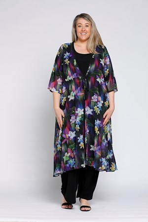 PRINT 179 - Ashley chiffon overcoat
