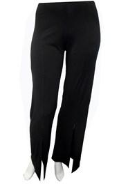 BLACK - Tania split front pants
