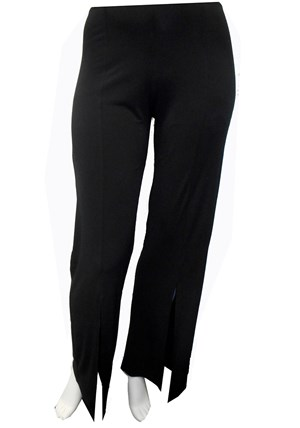 BLACK - Tania split front pants