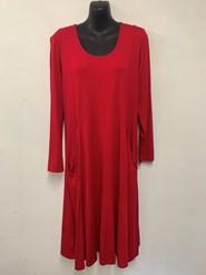 Tessa Long Sleeve Wonderland Knit Tunic Dress with Pockets FIRE