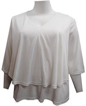 LIMITED STOCK - WHITE - Ronda double layer top