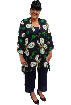 FLORAL - Tie front cotton jacket