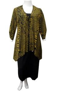 KHAKI - Tie front jacket