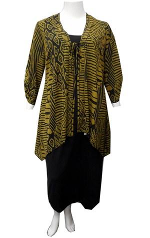 LIMITED KHAKI - Tie front jacket