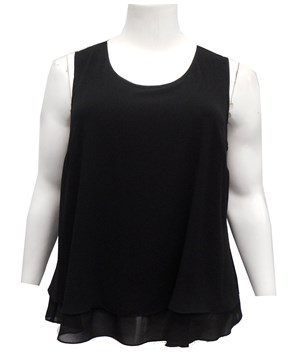 COMING SOON - BLACK - Kayla chiffon singlet