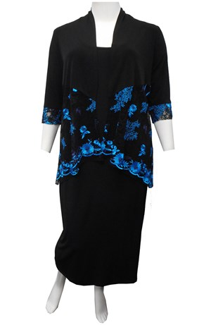 BLUE - Natalie embroidered shrug
