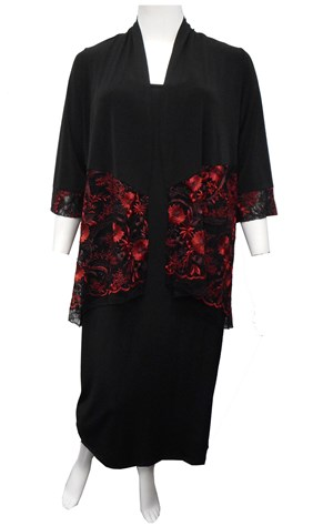 RED - Natalie embroidered shrug