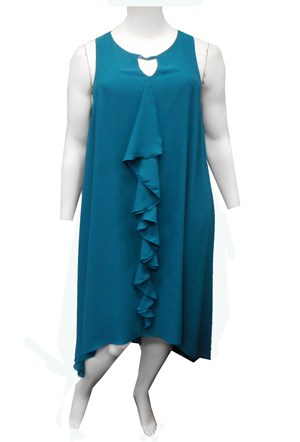 TEAL - Charlotte double layer dress