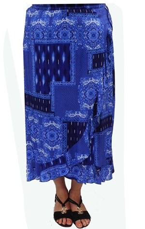 Wendy false wrap skirt