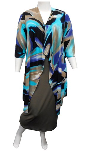BLUE - Melissa long duster