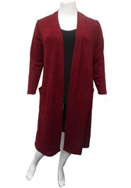 BURGUNDY - Karen knit cardigan