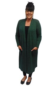 GREEN - Karen knit cardigan