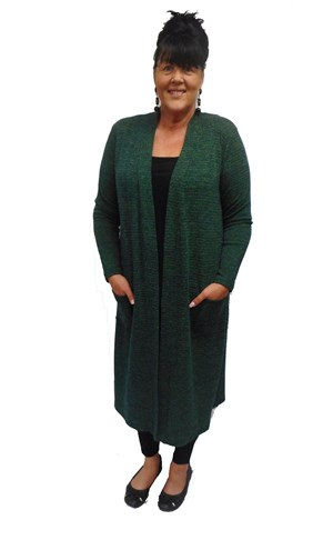 LIMITED STOCK - GREEN - Karen knit cardigan