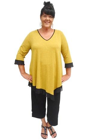 MUSTARD - Lily contrast hem knit tunic