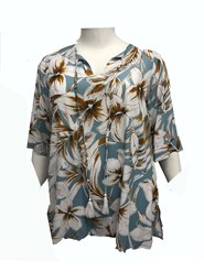 RTM 2268 Printed Viscose Rayon Top with Tassle