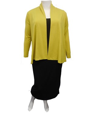 LIMITED STOCK - LIME - Long sleeve knit jacket