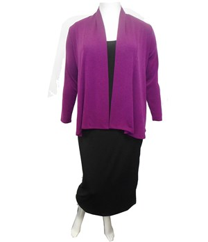 PURPLE - Long sleeve knit jacket