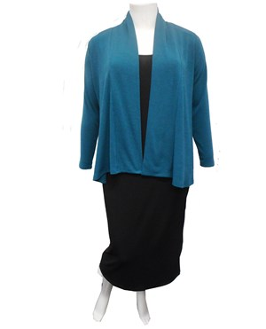 TEAL - Long sleeve knit jacket