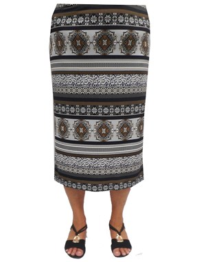 Monica printed maxi skirt