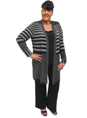 Shannon stripe knit cardi