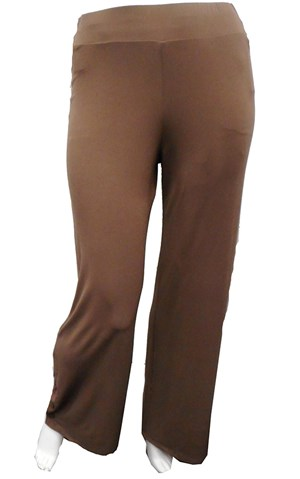 LIMITED MOCHA - Jasmin button detail pant