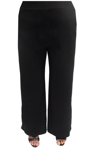 BLACK - Jasmin button detail pant
