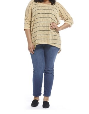 MUSTARD - Melissa stripe knit top