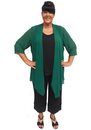LIMITED STOCK - GREEN - Rachel chiffon shrug