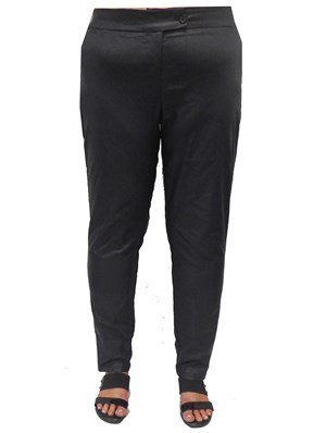 CHARCOAL - Carol texture leatherette pants