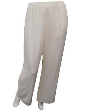 LIMITED STOCK - IVORY - Helen chiffon pants. Also available in WHITE, NAVY, BLACK