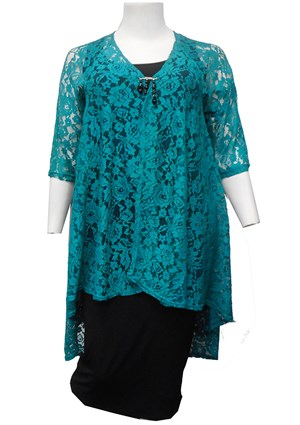 TEAL - Ruth lace jacket
