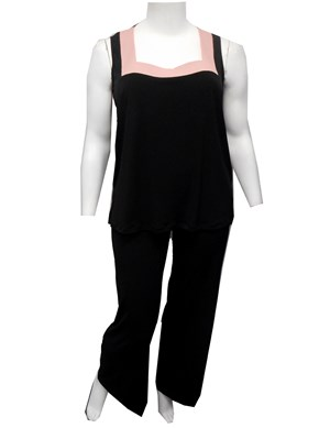 LIMITED STOCK - BLK/PINK - Claudia singlet