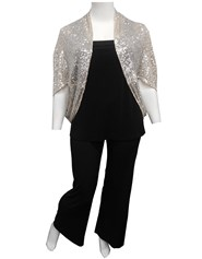 SILVER - Sabrina sequin shrug