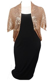 GOLD - Sabrina sequin shrug