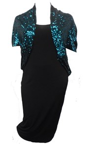TEAL - Sabrina sequin shrug