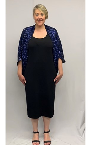 SOLD OUT Sparkle Knit Shrug MIDNIGHT BLUE