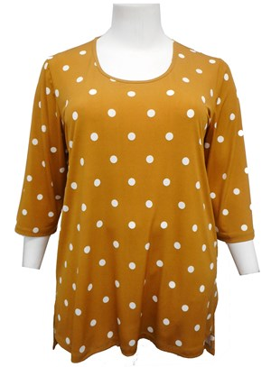 LIMITED STOCK - MUSTARD - Gwen spot top