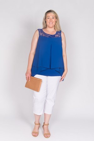 ROYAL - Rebecca lace and chiffon top