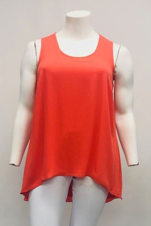 Danielle Chiffon Singlet - Orange