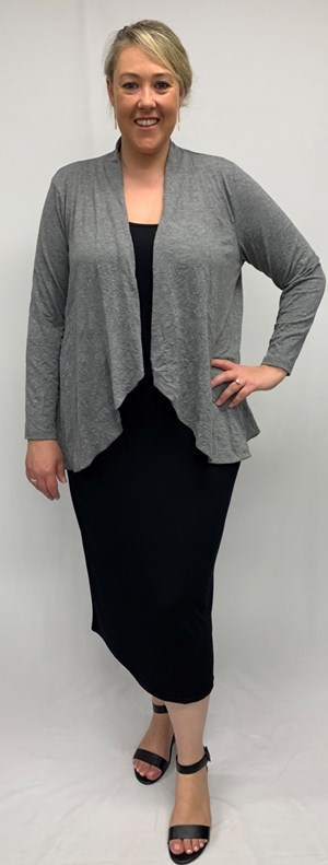 RTM 2532 GREY Crushed Knit Jacket