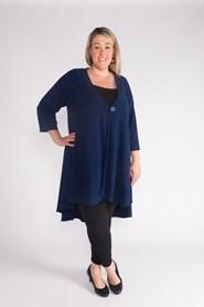 Kim Light Weight Woolly Knit Jacket NAVY