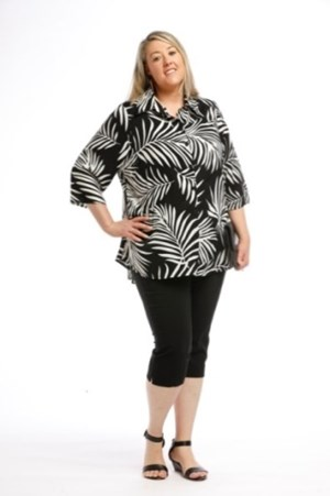 Printed Woven Shirt BLACK WHITE PRINT