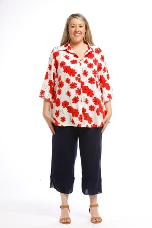 Printed Woven Shirt RED PRINT