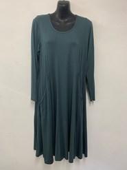 Tessa Long Sleeve Wonderland Knit Tunic Dress with Pockets ARMY GREEN